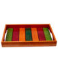 Picture of Wooden Runner Tray Elegant Green, Red & Orange