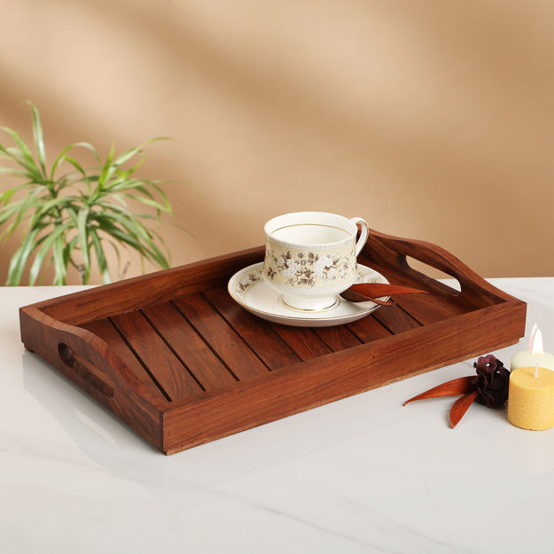 Picture of Wooden Tray Brown