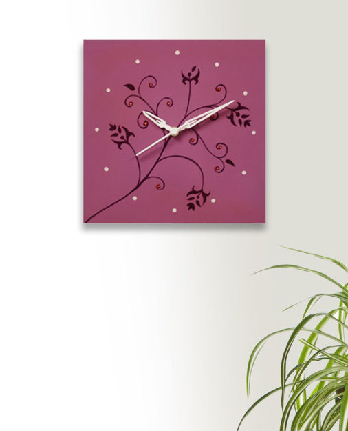 Picture of Handmade Wall Clock Purple