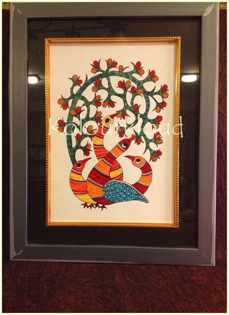 Picture of Gond Painting Framed (Portrait)