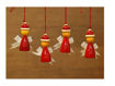 Picture of FAIRY Handcrafted Wooden Christmas Decor (Set of 4)