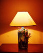 Picture of Bottle Lamp Hand Painted Radha Krishna