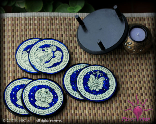 Picture of Tea Coasters - Tholu Blue (Set of 6)