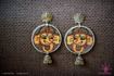 Picture of Earring with Hanging Jhumka - Ganesha Design (Handpainted Yellow)