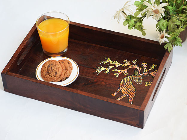 Picture of Wooden Serving Tray - Deer