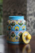 Picture of Blue Pottery Sugar Jar (Available in 5 Designs)