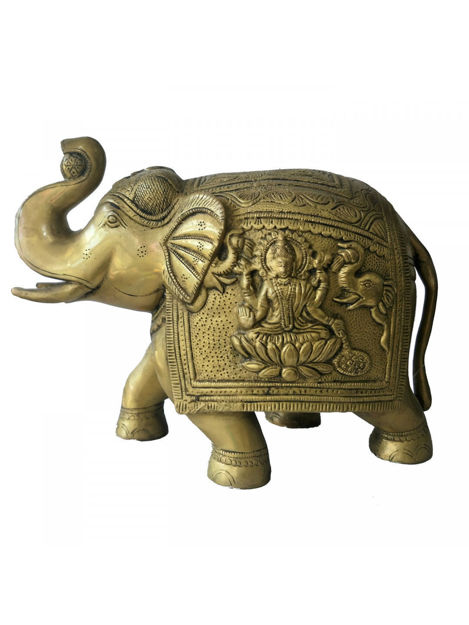Picture of Brass Elephant Showpiece