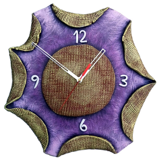 Picture of Terracotta Wall Clock (Folded Boundaries)
