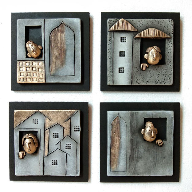 Picture of Friends Terracotta Wall Decor (Set of 4)