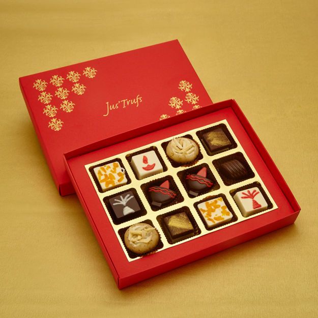 Picture of Modern Chocolate Mithai Box of 12