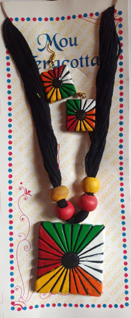 Picture of Terracotta Multicolour Jewellery Set - Available in 5 colors