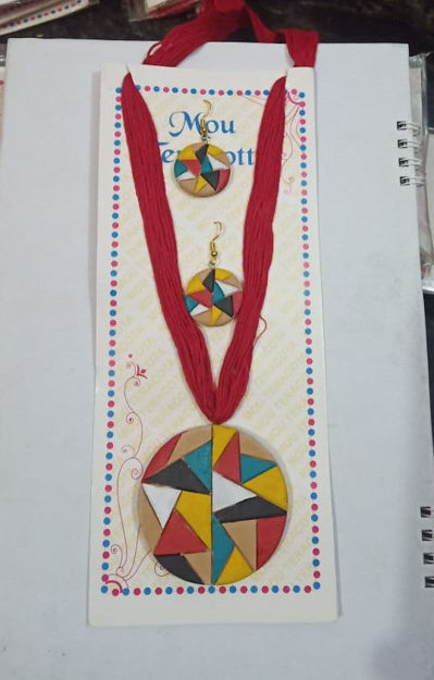 Picture of Terracotta Multicolour Jewellery Set - Available in 3 colors
