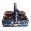 Picture of Wooden Blue Basket/Holder