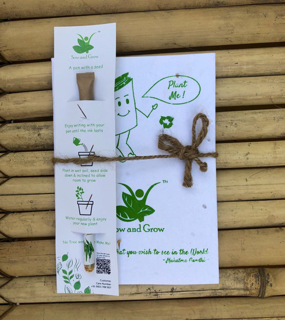 Picture of Eco-Friendly Plantable Diary and Seed Paper Pen Combo (Assorted)