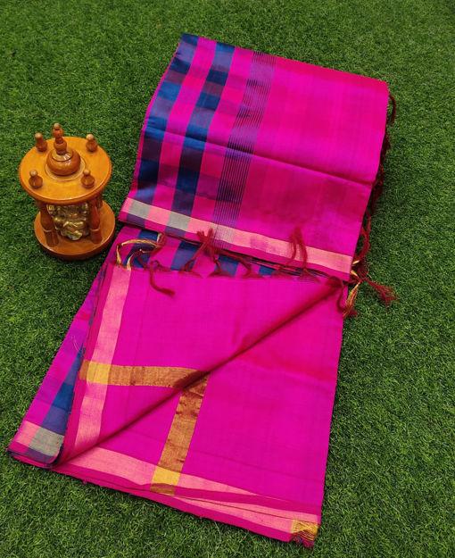 Picture of Silk Checks Model Sarees