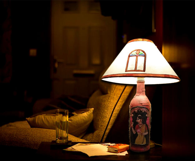 Picture of Lady At Window Table Lamp